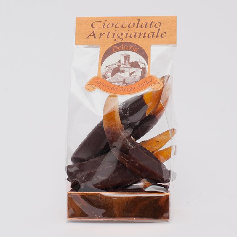Scorza di arancia al cioccolato
